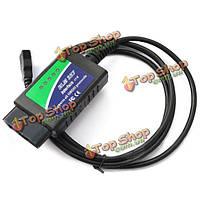 USB ELM327 OBD OBD2 диагностическое автомобильное устройство для ноутбуков и ПК