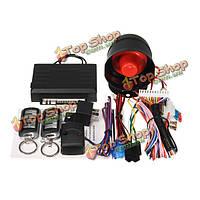 Универсальная система охранной сигнализации автомобиля 1 способ ж / 2 ключа устройств дистанционного управления датчиком удара