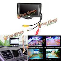 4.3-дюйма tft жидкокристаллический HD цифровой цветной экран монитора для автомобильного вида сзади изменение камеры