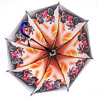 Детский зонт - трость для мальчиков полуавтомат