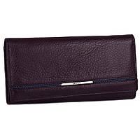 Модный кошелек кожаный 3607-3 purple