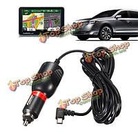 3.5м кабель универсальный 8-36V для 5V 2A Mini-USB DC автомобиль зарядное устройство адаптер для GPS Nuvi