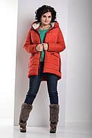 Зимняя теплая куртка свободного силуэта Пуховик Большие размеры