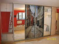 Шкаф-купе в квартиру-студию с УФ-печатью