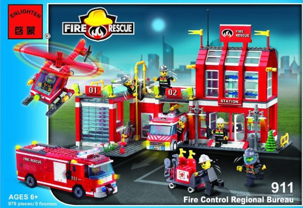Конструктор Brick 911 Пожарная охрана 980 деталей