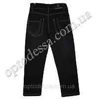 Классические чёрные джинсы со светлой строчкой (от 5 до 11 лет) (806)