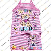 Детский трикотажный костюм для девочки от 4 до 8 лет (3474-2)