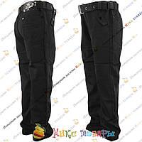 Черные школьные брюки для мальчика от 8 до 13 лет (5-001)