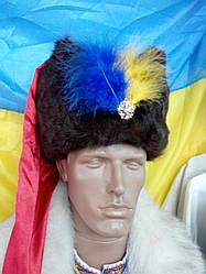 Гетьманська шапка з пухнастим пір'ям