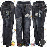 Теплые детские джинсы для мальчика от 3 до 8 лет (3736)