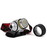 Фонарь налобный светодиодный четыре режима работы 19 LED батарейки 3 ААА INTERTOOL LB-0301, фото 6