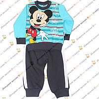 Тёплые трикотажные костюмы с Мики Маусом Рост:68- 86 см