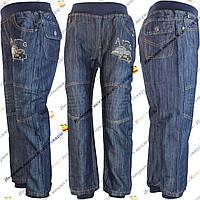 Синие джинсы на резинке для мальчика от 3 до 8 лет (3-005)