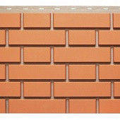 Фасадная панель Кирпич Клинкерный 1,22х0,44 м (красный)