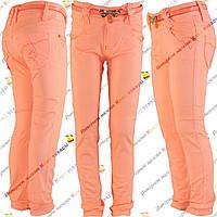 Летние котоновые брюки Девочка от 6 до 10 лет (4186-1)