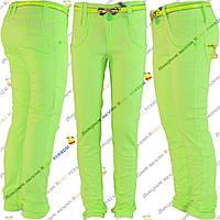 Салатовые летние брюки для девочки от 6 до 10 лет (4185-1)