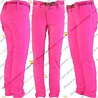 Летние джинсы для девочки от 6 до 10 лет (4186-2)