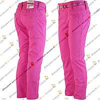 Детские цветные штаны малинового цвета от 3 до 8 лет (4183)