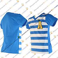Детские футболки для мальчика в полоску Рост: 86- 104 см (3242-1)