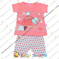 Детская футболка и бриджи для малышей Рост: 74- 86 см (5230-2)