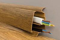Плинтус Queen Effect с двойным кабель-каналом матовый 22х57х2500 мм (венге конго)