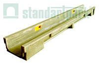 Лоток водоотводной StandartPark 1000х140х80 класс нагрузки: A – С полимербетонный (7040)
