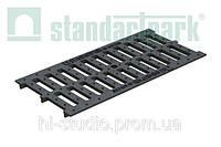 Решетка водоприемная StandartPark 500х237х14 класс нагрузки: A – C щелевая чугунная ВЧ, кл.С (25303)