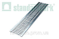 Решетка водоприемная StandartPark 1000х237х15 класс нагрузки: A штампованная стальная оцинкованная (2510)