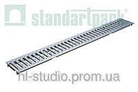 Решетка водоприемная StandartPark 1000х136х3 класс нагрузки: A штампованная, нержавеющая сталь (2090)