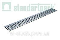 Решетка водоприемная StandartPark 1000х136х3 класс нагрузки: А штампованная стальная оцинкованная (2010)