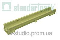 Лоток водоотводной StandartPark 1000х140х100 класс нагрузки: A – C полимербетонный (7030)
