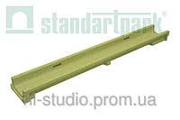 Лоток водоотводной StandartPark 1000х140х60 класс нагрузки: A – С полимербетонный (7010)