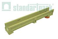 Лоток водоотводной StandartPark 1000х140х123 класс нагрузки: A – С полимербетонный с вертикальным водоотводом (700009)
