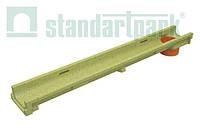 Лоток водоотводной StandartPark 1000х140х60 класс нагрузки: A – С полимербетонный с вертикальным водоотводом (701009)