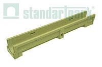 Лоток водоотводной StandartPark 1000х140х123 класс нагрузки: A – С полимербетонный (7000)