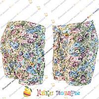 Светлые шорты с цветами для девочек от 4 до 8 лет (3317-5)
