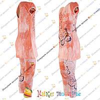 Стильный летний костюм для девочек от 2 до 8 лет (3324-3)