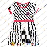 Летнее полосатое платье для девочки от 4 до 8 лет (3325-1)