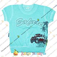 Турецкие футболки для мальчика с напылением от 1 до 4 лет (3383-3)