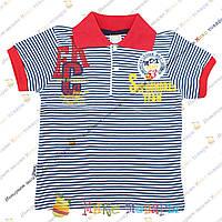 Полосатые футболки с воротником пр- во Турция Рост: 92-104-116 см (3384-1)