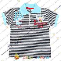 Полосатые футболки с воротником пр- во Турция от 2 до 6 лет (3384-3)