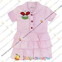 Летние Цветные платья для девочек Размеры: 1-2-3-4 года (3400-3)