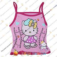 Майки на бретелях Hello Kitty для девочек от 1 до 5 лет (3407-2)