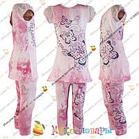 Стильный летний костюм для девочек от 2 до 8 лет (3324-4)