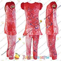 Стильный летний костюм для девочек от 2 до 8 лет (3324-5)