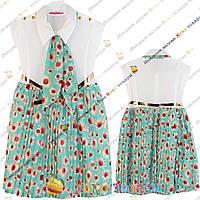 Нарядные Платья с ромашками от 5 до 10 лет (3412-1)
