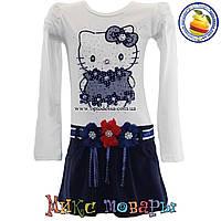 Платье Hello Kitty с длинным рукавом от 3 до 8 лет (4449-1)