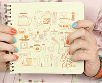 "Кулинарная книга ""Cookbook"" и комплект наклеек"