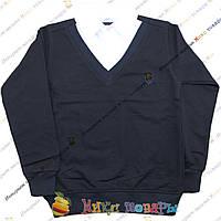 Темно синий Батник с рубашкой Обманка пр- во Турция от 7 до 13 лет (3451)