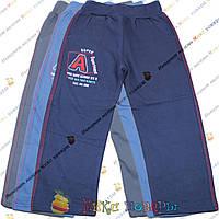 Трикотажные штаны без манжета с начёсом для мальчика от 7 до 10 лет (3676)